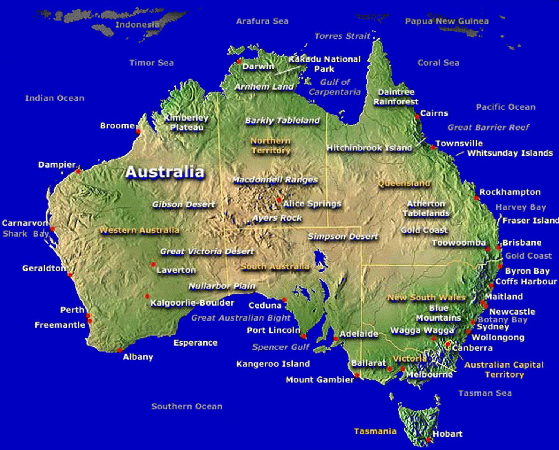 Australien Karta Lander.Australian Wine Karta Karta Over Australiska Karta Australien Och