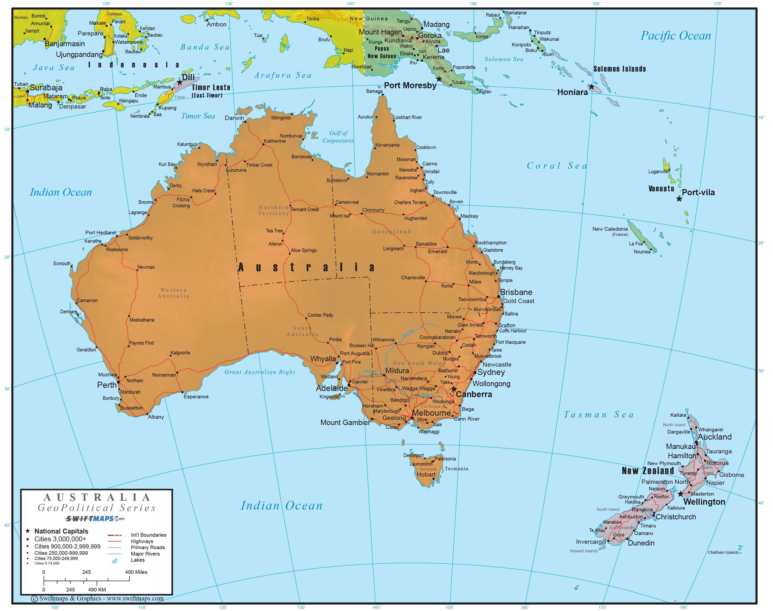 Australien Fullstandig Karta Fullstandig Karta Over Australien